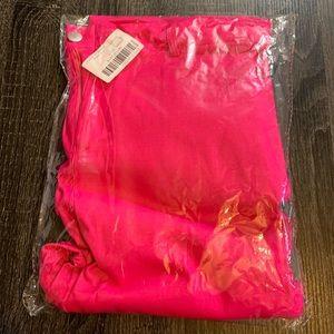 Skinny neon pink pants